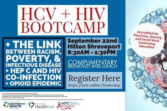 Registration for HCV + HIV Bootcamp - Shreveport is Now Open