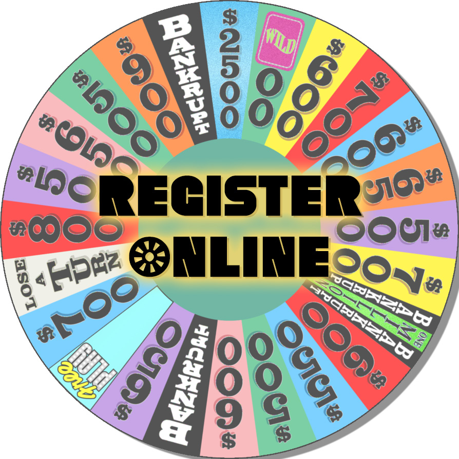 Wheel with Register Online Rev